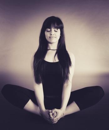 Meditation yoga breathing calm