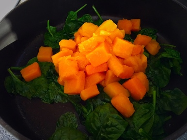 Spinach Black Bean Squash Enchilada Filling Cooking