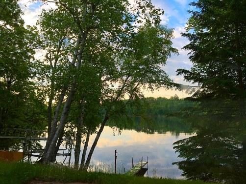 Cabin lake sunrise